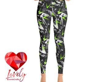 Abstract Yoga Leggings, Printed Leggings, Galaxy Print Yoga Leggings, Womens Leggings, Yoga Leggings, Workout Leggings, Fashion Leggings