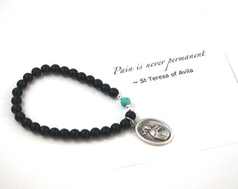 St Teresa of Avila Saint Bracelet Saint Teresa bracelet catholic bracelet jewelry confirmation gift Religious gift inspirational bracelet
