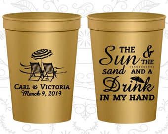 Personalized Plastic Cups, Wedding Cups, Plastic Cups, Stadium Cups, Personalized Cups, Custom Wedding Cups, Plastic Wedding Cups (C353)