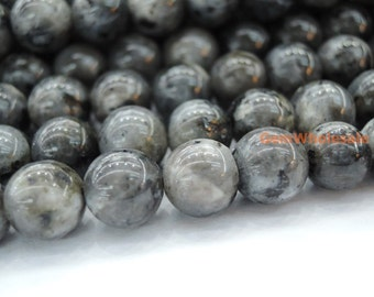 "15.5"" 6mm Black Labradorite round beads, Larvikite beads, black gemstone, semi-precious stone, Larvikite 6mm round beads"