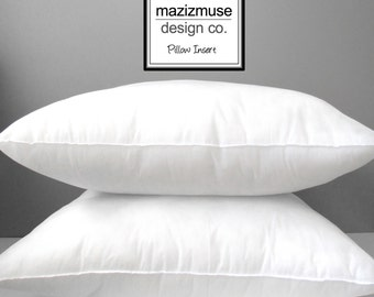 """12""""x18"""" Pillow Form - Outdoor Indoor Pillow Insert - Hypoallergenic Pillow Form - Synthetic - Purchase with Mazizmuse Pillow Covers Only"""