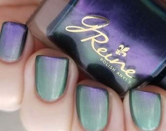 Rebirth - Purple Blue Green duochrome Color Shifting Nail Polish
