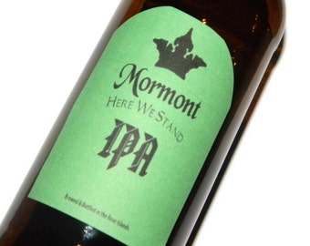 Game of Thrones Mormont Here We Stand IPA Adhesive Beer Labels (Sheet of 9 labels), game of thrones fan, game of thrones gift, house mormont