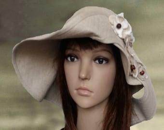 Summer linen hats, Suns hats women, Womens sun hats, Organic cotton hats, Sun wide brim hat, Women's simmer hat, Cotton hats lady