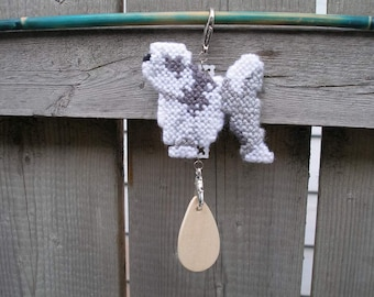 Lowchen crate tag - little lion dog, hang anywhere handmade original art by canine artisan, Magnet option
