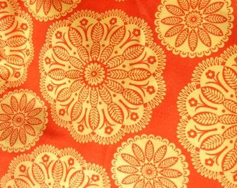 Gypsy Bandana Orange & Yellow Cotton Print