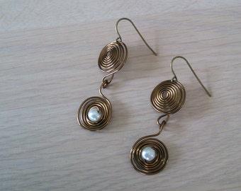 Bronze Wire Earrings