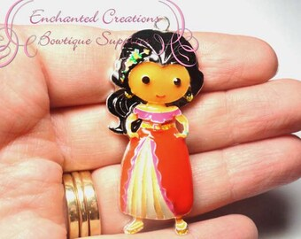 "2"" Elena Inspired Charm, Chunky Pendant, Keychain, Bookmark, Zipper Pull, Chunky Jewelry, Purse Charm"