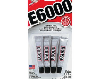 E6000 Industrial Strength Glue: set of four .18 fl oz tubes