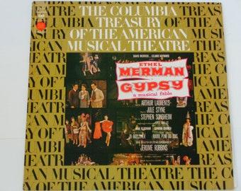 Gypsy A Musical Fable - Original Broadway Cast - Stephen Sondheim - Ethel Merman - Columbia Treasury RE 1973 - Vintage Vinyl LP Record Album