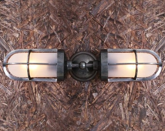 Clayton Double Well Glass Wall Light