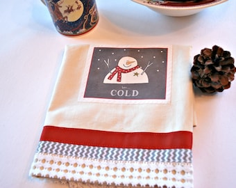 Snowman Tea Towel, Home and Living, Kitchen and Dining, Linens, Dishcloths and Kitchen Towels, Housewares Kitchen Towel, Dish Towel