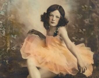 Anna Ballerina Beauty Tinted Vintage Photo Print