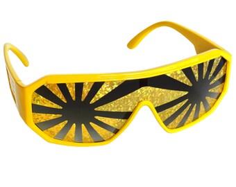 Rasslor Yellow Frame Gold Star Burst Shield