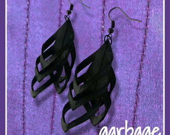 Mini Shredded Earrings