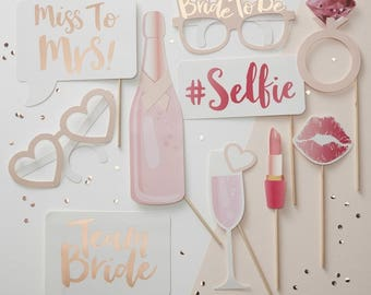 Team Bride Photo Booth Props