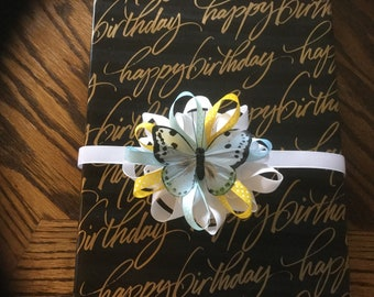 Gift bow with butterfly