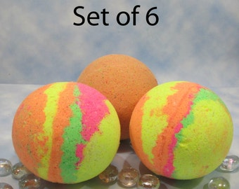 Surprise Bath Bombs for Children Over 3 years, Birthday Favors for Grandchildren, Kids Hidden Present, Bath Ball Party Favors, Set of 6