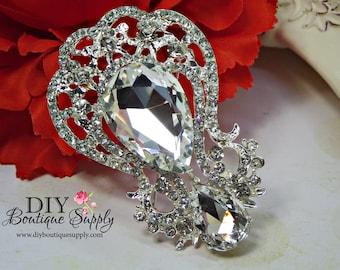 Gorgeous Crystal Rhinestone Brooch - Wedding Cake Brooch Pin Accessories - Crystal Brooch Bouquet - Bridal Brooch Sash Pin 65mm 942198