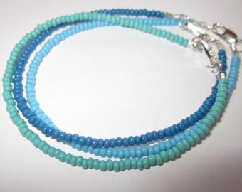 Seed Bead Bracelets, Tiny Seed Bead Bracelets, Anklets, Stacking Bracelets, Ankle Bracelets, Matching Bracelets,Minimalist