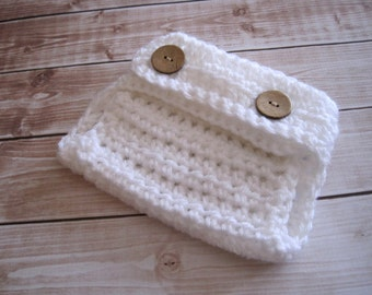 Crochet Diaper Cover, Crochet Baby Diaper Cover, Newborn Diaper Cover, Infant Diaper Cover, Boy Diaper Cover, Baby Photo Prop, White