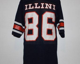 Vintage Illinois Fighting Illini NCAA Football Jersey