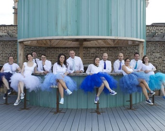 Retro Flair Tulle Skirts - Full Sewn Tutu Skirts - your choice of color and size- bridesmaids, prom, portraits - midi, tea length, long