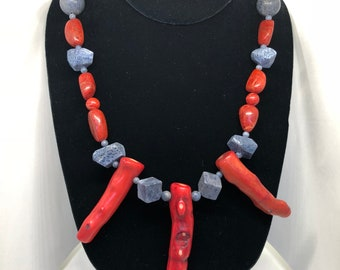 A9 Natural Coral and blue sponge Coral
