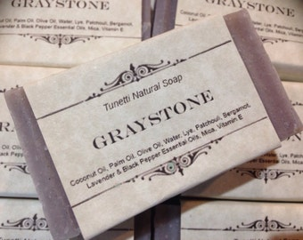 Graystone Natural Homemade Soap, Handmade soap, Natural Soap, Cold Process Soap