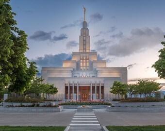 Utah Draper Temple Spring Sunset