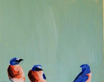 """Bluebird Friends Print 8 """" x 8"""""""