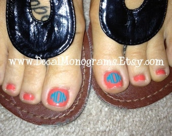 Toe Nail Monograms 6 matching