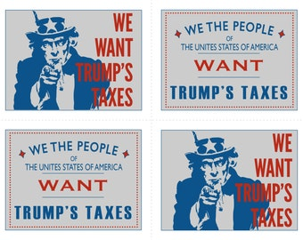 "Protest Postcards- ""We Want Your Taxes"""