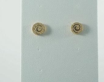Stainless Steel Textured Swirl Earrings GOLD. WHITE. MyLittleBoxJewlery