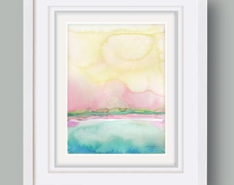 "Abstract Watercolor Painting, soft, Serene, Peaceful, Tranquil, Original art ""Ethereal Travels 5"" Kathy Morton Stanion EBSQ"