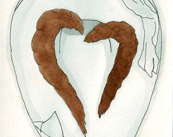 Poop Heart- large print
