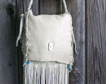 Fringed handbag ,  Fringed leather crossbody bag , Leather purse with fringe