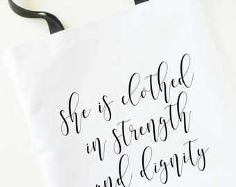 mother's day gift, mom tote bag, scripture tote bag, Calligraphy Script Tote Bag, gift for her, mothers day tote, bible verse for her tote
