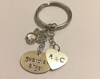 Personalized Keychain - Anniversary Keychain - Customized Heart Keychain - Personalized Anniversary Gift - Bridal Gift - Couples Keychain