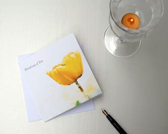 Thinking of You – The Tulip, Sympathy Card, Thoughts Are With You Card, Friendship Card, Sorry For Your Loss Card, From the Heart