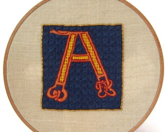 """Traditional embroidery kit """"Illuminated A"""""""