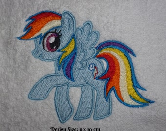 Rainbow Dash My Little Pony Design (237) Embroidered Personalised Fleece Baby Blanket