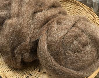 Shetland Wool  Roving Brown- 4 oz pkg