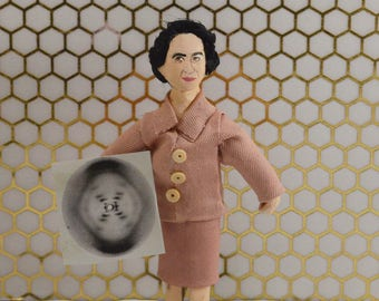Rosalind Franklin, Doll Miniature, Scientific Research, Medical Art,  Miniature Collectibles