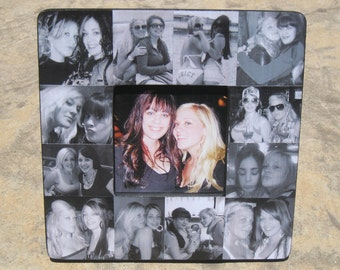 """Maid of Honor Collage Picture Frame, Unique Sister Gift, Custom Bridesmaid Frame, Personalized Best Friend Birthday Gift, 8"""" x 8"""""""