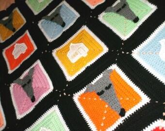 AerieDesigns Homes 4 Hounds Greyhound Dog Afghan PDF Crochet Pattern Instant Digital Download