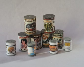 1:12 Scale Can Goods, Miniature Can Goods