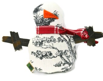 Cat Toy Catnip Christmas Snowman