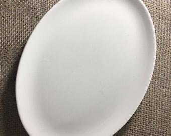 """Homer Laughlin 11 3/4"""" White Oval Platter Restaurant Ware Vintage 1993 Plate"""