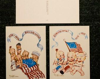 1776-1976 Bicentennial Kewpie Dolls postcards (2)
